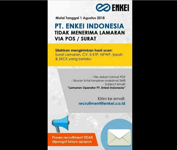 Cara Melamar Kerja Ke PT. Enkei Indonesia