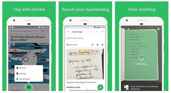 Evernote adalah salah satu Contoh aplikasi android yang wajib dimiliki untuk memudahkan pekerjaan
