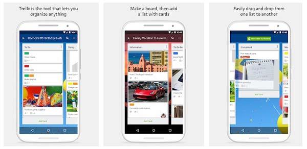 Trello aplikasi android untuk kerja