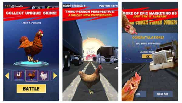 Simulasi Game Ayam Nyebrang Jalan