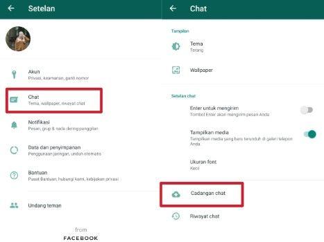 Cara backup Data Whatsapp ke Google Drive