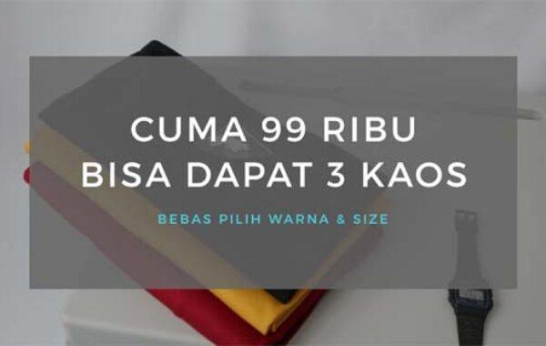 Kaos Polos Cotton Combed 30s Terbaik di Klaten