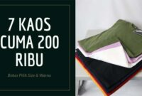 Kaos Polos Cotton Combed Klaten