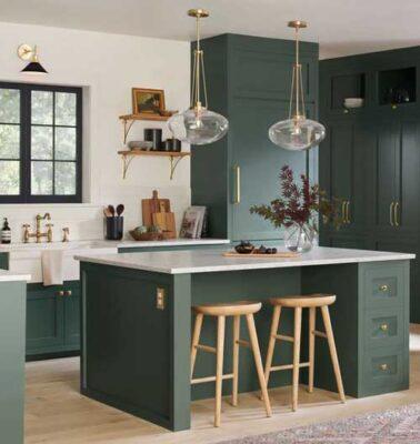 Konsep Ruangan Dapur Hijau Tosca