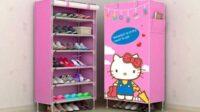 Lemari Sepatu Portable Hello Kitty