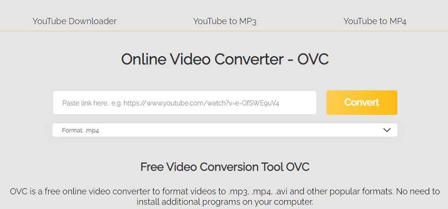 Mengubah video menjadi audio dengan Online Video Converter