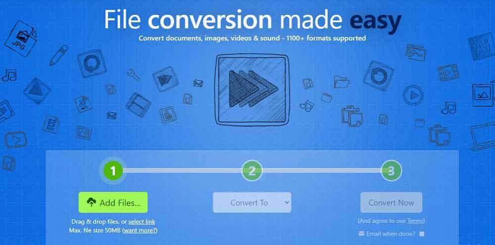 Zamzar - Converter Video to Audio
