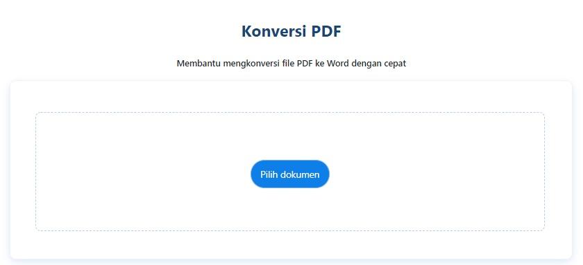 Konversi PDF to Word